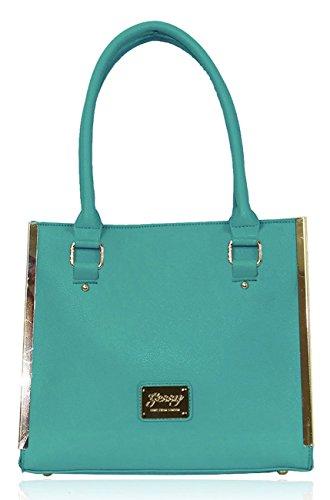 Logo In Metallo Kukubird Chic In Ecopelle Oro-tono & Passamanerie Tote Shoulder Bag Handbag Teal
