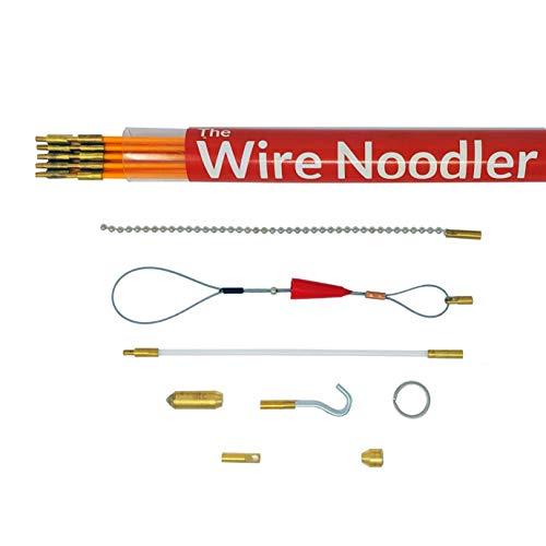 Draht Noodlers Ink: Komplett Draht und Kabel ziehen Fisch tape kit. Inklusive Glasfaser Stab, Plus 16in Kette Nudeln, LED Licht, Haken, und Tragetasche -