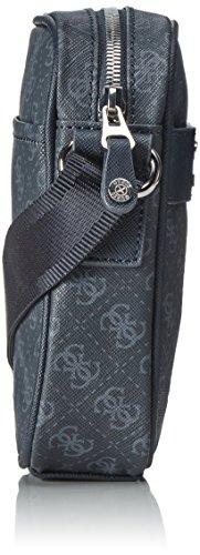 Guess Herren Uptown Messengerbag, 5.5x18x15.5 cm Blau