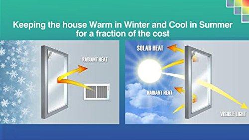 """Tamia-Home Statische Fensterfolie 90% UV-Sonnenschutz Selbsthaftende Sichtschutzfolie Glasdekor """"Blätter Weiß"""", 1 Stück, milchweiß, halbtransparent, HF-C5X4-XEW1 - 3"""