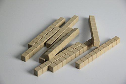 WISSNER aktiv lernen - 100 Dienes Zehnerstäbe - RE-Wood - Und Addieren Ganzen Subtrahieren Von Zahlen