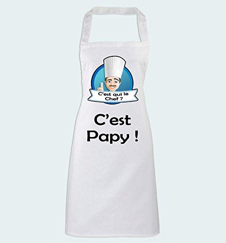 Yonacrea - Tablier de Cuisine - C'est qui le Chef? C'est Papy!