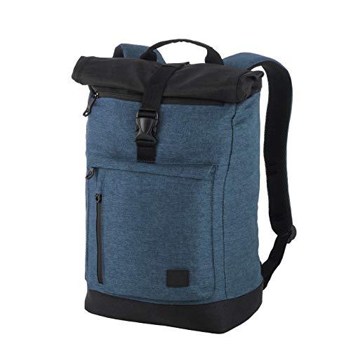 Rada Rucksack RS/38, Freizeitrucksack mit Laptop/Tablet-Fach, DIN A4 Ordner kompatibler Kurierr-Bag für Mädchen und Jungen, wasserabweisender Daypack, Damen und Herren (Petrol Soft)