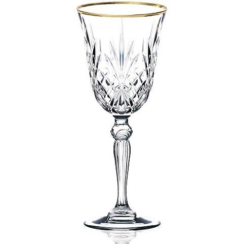 Lorenzo Importaci-n LG3005 Siena Collection Set de 4 Crystal Cordial licor de cristal con dise-o de banda de oro por Lorren Inicio Tendencias