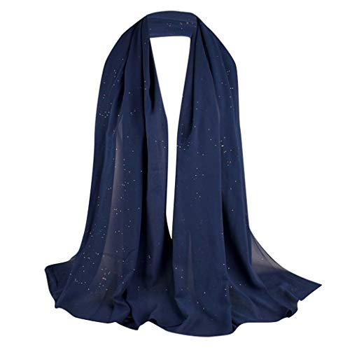 Lazzboy Frauen Abaya Islamischen Muslimischen Nahen Osten Hijab Scarf Wrap Headwear Muslim Damen Strecken Turban Hälfte Hals Wickeln Kopfbedeckung Haar Kopftuch Dubai Hidschab(O)