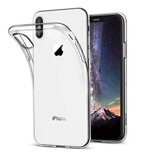2bde0be05ea Funda iPhone X, Vkaiy iPhone X Carcasa Suave TPU con [Compatible con Carga  Inalámbrica