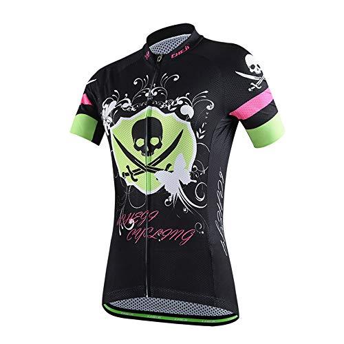 Damen Radfahren Strumpfhosen (YHBHHW Damen Jersey, Sportbekleidung, Halbarm, Sommer cool atmungsaktive Fahrradtragen, Fahrradhose, Sweat Shorts, Strumpfhosen, Komfort)