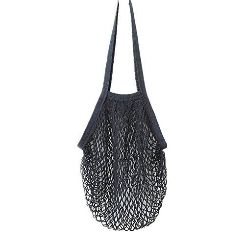 Netztasche, iHee Neue Mesh Net Turtle Bag String Einkaufstasche Wiederverwendbare Obst Lagerung Handtasche Totes Einkaufstasche (Schwarz) -