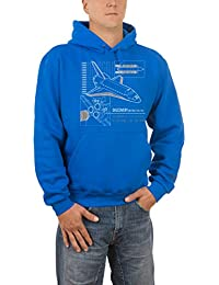 Touchlines Discovery Raumschiff, Sweat-Shirt à Capuche Homme