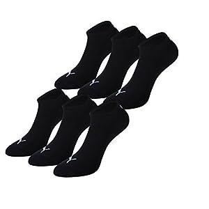 PUMA Unisex Sneakers Socken Sportsocken 6er Pack, Schwarz, 39/42