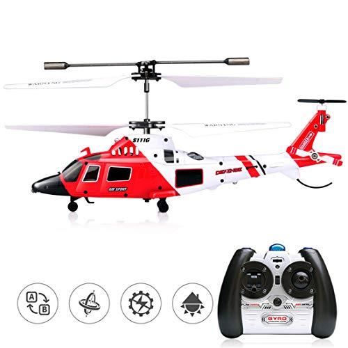 Zgifts Helicóptero de Control Remoto Modelo de Combate con Giro-Hobby RC Radio avión accidente de Juguete Resistencia para niños de Interior al Aire Libre de Navidad