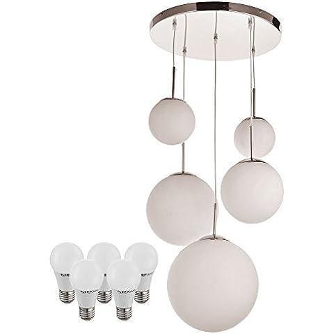 Sfere di vetro di alta qualità soffitto lampada su raso