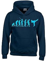 KARATE Evolution Kinder Sweatshirt mit Kapuze HOODIE Kids Gr.128 - 164 cm Kickboxen, Taekwondo, Judo, Karate, Aikido, Ju Jutsu