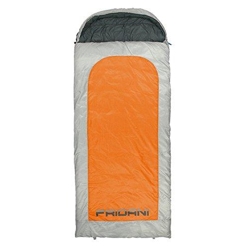 Fridani BO 235S XXL Camping Schlafsack bis -22°C Outdoor Deckenschlafsack 235x100 cm, Hüttenschlafsack mit 2700 g für 3 / 4 Jahreszeiten Frühling Sommer Herbst