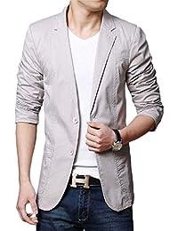 Adelina Blazer da Uomo Slim Fit Blazer 2 Abbigliamento Giacche Suit Button  Primavera Business Basic Risvolto Uomo Casual da Uomo Casual… fc4e0df203d