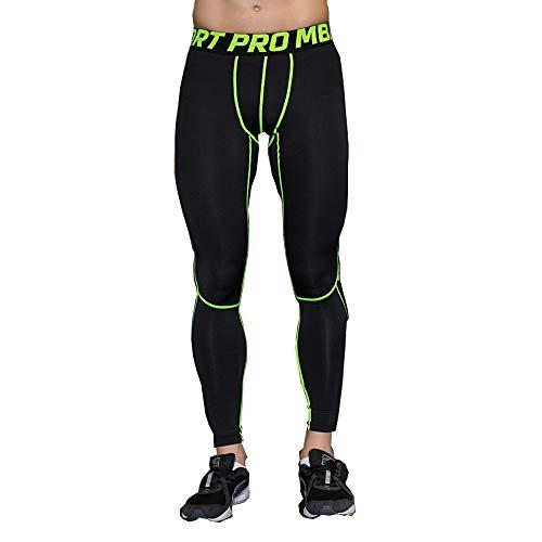 UrChoiceLtd® 2017 GYM QX Herren Laufen Sports Hosen Herren Kompression Tragen Sie Workout Kleider schnell Trocken atmungsaktiv Gemütlich Leggings Basis Elite Fitness Thermal Wow (M, Grüne)