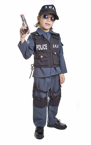 dler T2 Deluxe Children's S.W.A.T. Police Officer Costume Set by Dress Up America ()