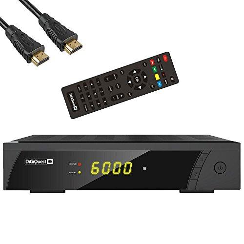 DigiQuest 8010HD digitaler Full HD Satellitenreceiver FTA HDTV DVB-S2 inkl. HDMI Kabel