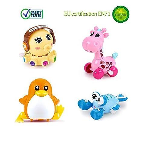 BigNoseDeer Colorful Wind Up Giraffe Octopus Penguin Lobster Miniatures Toy