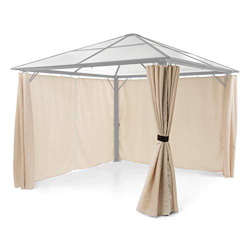 blumfeldt Pantheon Solid Sky Pavillon-Seitenwände • Zubehör-Set: 4 Seitenwände • Blick- und Windschutz • Material: 140 g/m² Polyester • wasserabweisend • beige -