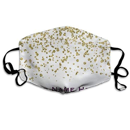 Daawqee Staubschutzmasken, Gold Glam Glitter Confetti Personalized Anti Dust Face Mouth Cover Mask Respirator Cotton Protective Breath Healthy Safety Warm Windproof Mask (Blau Und Gold-superhelden)