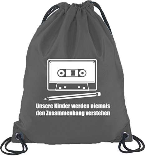 Camiseta street24, lápiz–Láser, Turn Bolsa Mochila Bolsa de deporte gris oscuro