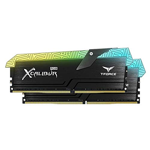 Team Group T-Force Excalibur RGB Special Edition Memoria Gaming DDR4 16GB (2 x 8GB) 3600MHz CL18 XMP 2.0 Kit di Memoria RGB PC4-28800 (XCALIBUR, 2 * 8GB 3600Mhz Black)