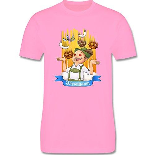 Oktoberfest Herren - Wiesngaudi - Herren Premium T-Shirt Rosa
