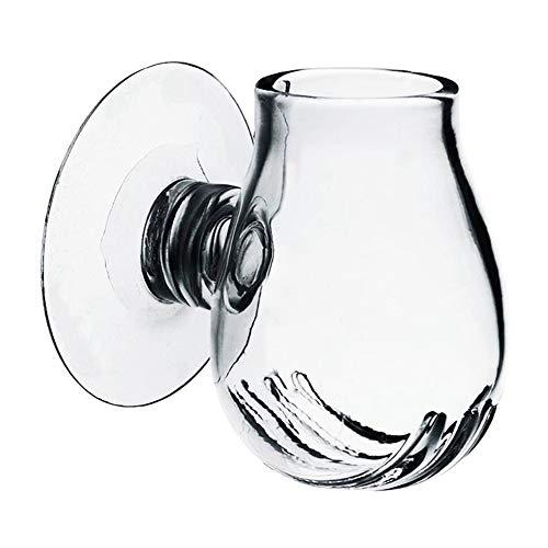 Onetek Glass Feeding Food Cup Pflanzenschale Brine Shrimp Live Red Worm Fisch Clear Dish Tray Für Aquarien (Süßwasser-tropische Live Fische)