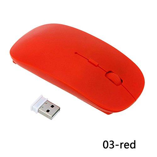 Kinbelle Tragbare 2,4GHz 4Tasten Optische USB Wireless Gaming Maus für Laptop PC MacBook (Combo Optical Wireless Desktop)
