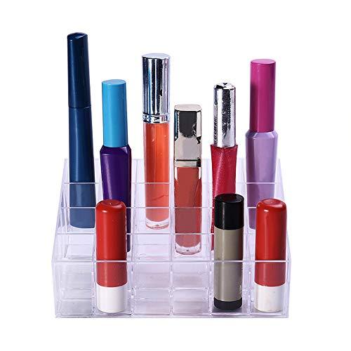 Ogquaton Cosmétique Organisateur Durable En Plastique Rouge À Lévres De Stockage Support de Rouge À Lèvres Affichage De Rouge à Lèvres Maquillage Grand