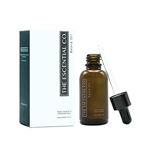 Bio Bartöl – Bartpflege Öl aus 100% natürlichen & biologischen Premium-Inhaltsstoffen für Bart-Haare Pflege-Styling – frei von Parfum & geruchsneutral mit hautpflegendem Vitamin E – The Escential Co.