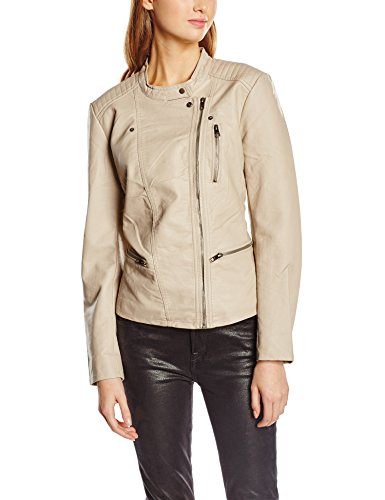 only-freya-biker-blouson-faux-cuir-manches-longues-femme-beige-simply-taupe-fr38