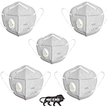 ClearCut N95 Face Mask, Reusable, washable & CE certified to protect Mouth droplets, Dust and pollution, Colour may vary currently White, Pack of 5 mask