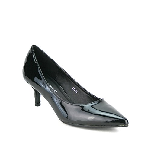 Cendriyon, Escarpin Verni Noir LOLA Chaussures Femme Noir