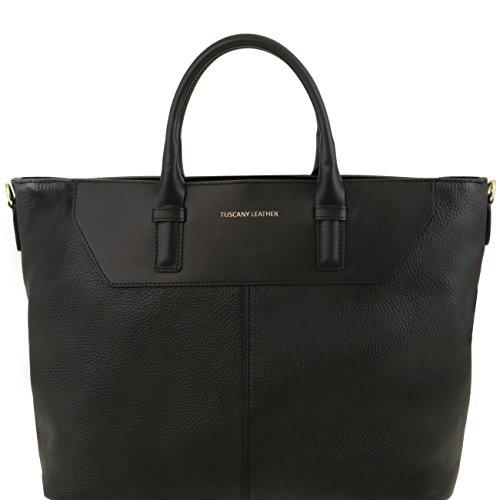 Tuscany Leather Irene - Sac hobo TL SMART en cuir souple Beige Sacs à main en cuir Noir