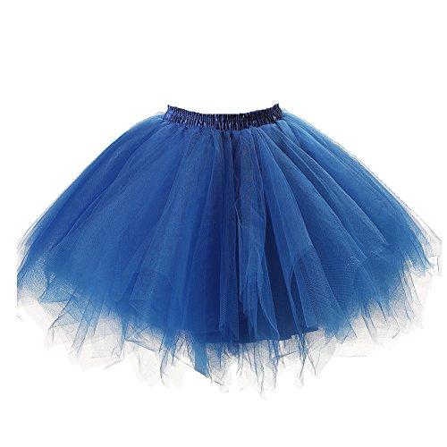 utu Unterkleid Rock Abschlussball Abend Gelegenheit Zubehör Rötlich-Blau ()