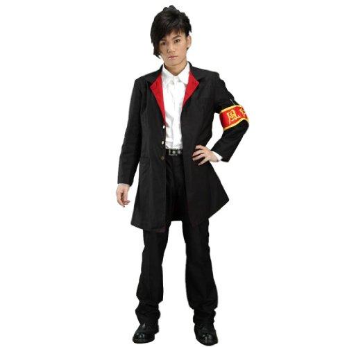 Dream2Reality japanische Anime Katekyo Hitman Reborn Cosplay Kostuem - Hibari Kyoya 2nd Ver Kid Size (Hibari Kyoya Cosplay Kostüm)
