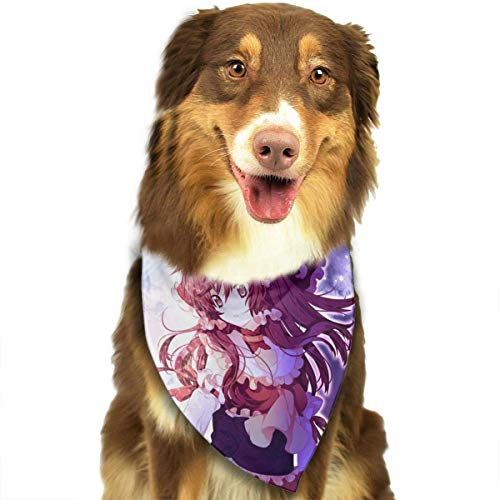 Rghkjlp Anime Girl Lolita Pet Bandana Washable Reversible Triangle Bibs Scarf - Kerchief for Small/Medium/Large Dogs & Cats