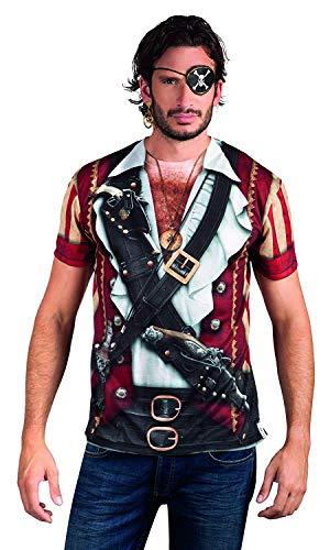 Männer Piraten Realistische Kostüm - Boland 84223 - Fotorealistisches Shirt Pirate, Kostüme für Erwachsene
