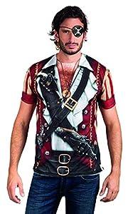 Boland 84223 - Camisa Pirata fotorrealista, disfraces para adultos