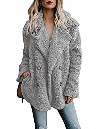 save off 40f3d 964f7 Amazon.it: pelliccia ecologica donna - Grigio / Cappotti ...