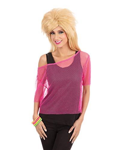 Neon Pink Mesh Fishnet Top (disfraz)