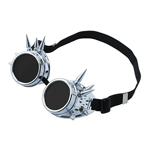Xshuai Cooler Design fantastischer Blick Vintage viktorianische Steampunk Goggles Gläser Schweißen Cyber Punk Gothic Cosplay (Mehrfarbig A / B / C / D / E / F / G) (F)