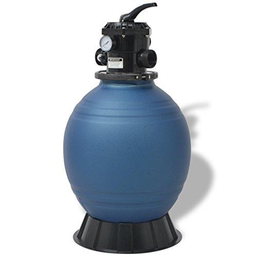 vidaXL Sandfilter für Schwimmbad 18Zoll/460mm Blau Sandfilterkessel Poolfilter