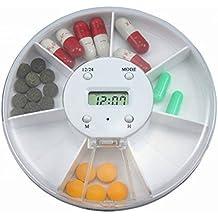 Pixnor Scatola della pillola Dispenser automatico pillola, sveglia Pill Dispenser pillola casella elettronica farmaco promemoria
