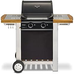 Enders BBQ Gasgrill BALTIMORE, Gas Grill 81496, 2 Guss-Brenner, Grillwagen mit Deckel, Thermometer, Warmhalterost, stabile Seitenablage
