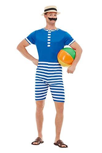 20er Jahre Männer Badeanzug Kostüm - Smiffys 50726L 20er Jahre Badeanzug, Herren,