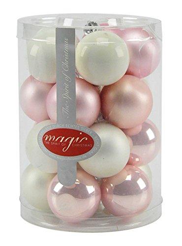 Sphères verre Ø4 blanches et rose pZ.20