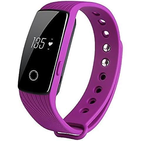 COOSA Monitor del ritmo cardíaco, Wireless rastreador de ejercicios, inteligente Muñequera con Multi-Funciones Rastreador de Actividad para Android e iOS
